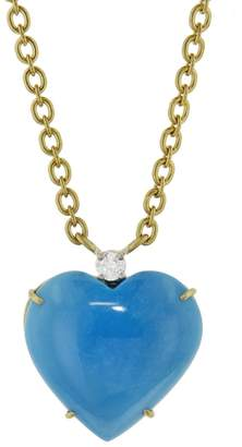 Irene Neuwirth 24.55 Carat Turquoise Heart Necklace