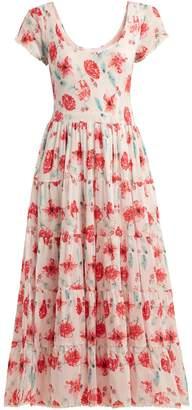 Athena PROCOPIOU Scoop-neck floral-print dress