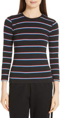 ATM Anthony Thomas Melillo Stripe Stretch Pima Cotton Baby Tee