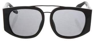 Alexander Wang x Linda Farrow Resin Round Sunglasses