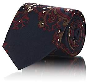 Fairfax Men's Abstract-Paisley Silk Faille Necktie-Navy