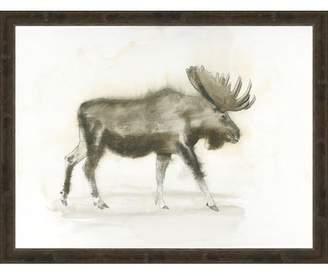Union Rustic 'Moose' Framed Drawing Print