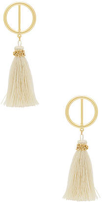 SHASHI Mia Hoop Earring in Metallic Gold. $53 thestylecure.com