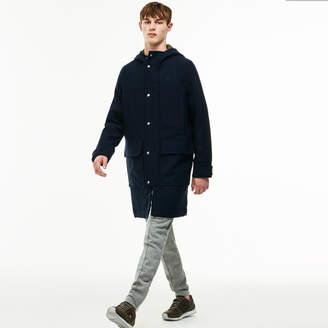 Lacoste Unisex LIVE Wool Broadcloth Duffel Coat