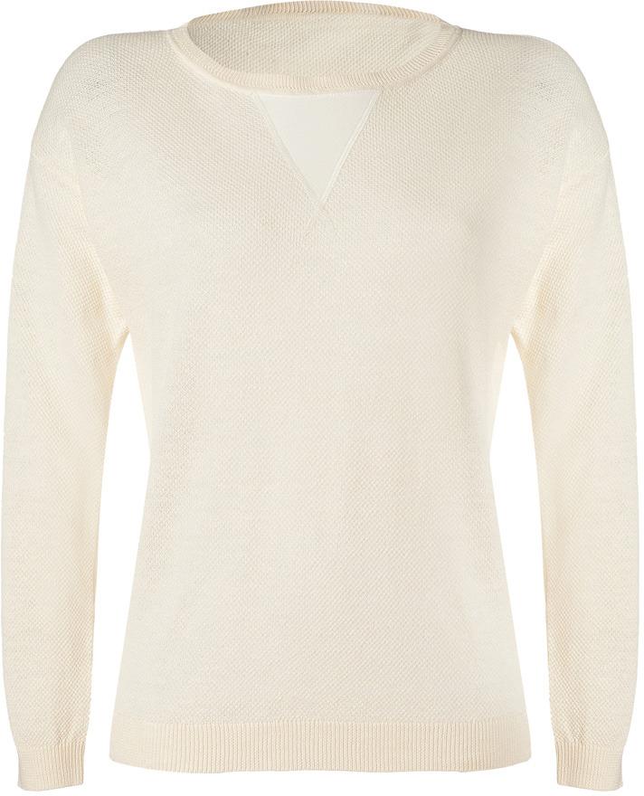 Vanessa Bruno White Cotton-Linen Pullover