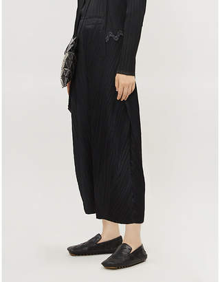 Pleats Please Issey Miyake Thicker Bounce wide high-rise pleated trousers