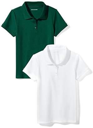Amazon Essentials Girls' Uniform 2-Pack Interlock Polo