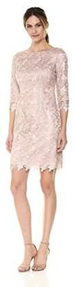 Eliza J Women's 3/4 Sleeve Lace Sheath Dress,8