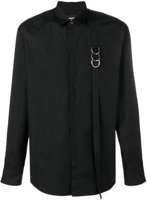 DSQUARED2 buckle strap detailed shirt