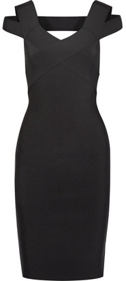 Roland Mouret - Morland Cutout Double-faced Stretch-knit Dress - Black $2,745 thestylecure.com