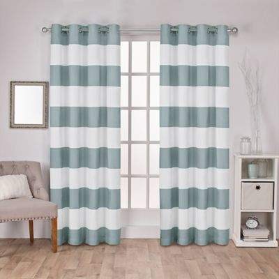 Surfside 108-Inch Grommet Top Window Curtain Panel Pair in Sea Foam