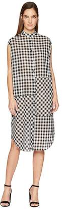 McQ Cut Up Sleeveless Shirtdress Women's Dress