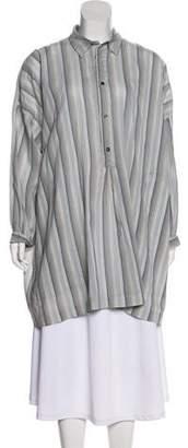 eskandar Oversize Striped Top