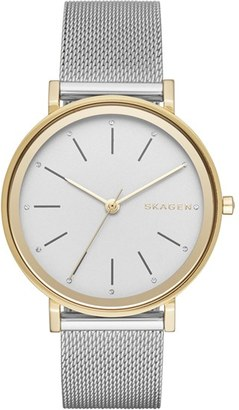 Skagen 'Hald' Round Mesh Strap Watch, 34mm $165 thestylecure.com