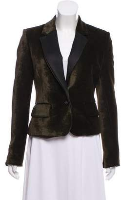 Jo No Fui Velvet Structured Blazer