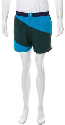 Kenzo Colorblock Short Shorts Swim Trunks w/ Tags