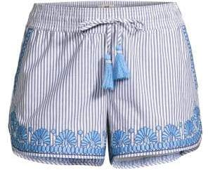 Vineyard Vines Sarah Embroidered Striped Shorts