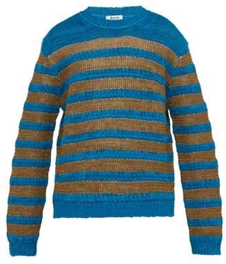 Acne Studios Kiefer Breton Striped Sweater - Mens - Blue