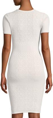 Ali & Jay Lace Pattern Body-Con Sweaterdress