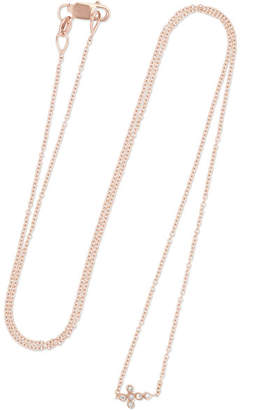 Ileana Makri Mini Cross 18-karat Rose Gold Diamond Necklace - one size