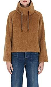 The RERACS Women's High-Neck Wool-Mohair Sweater - Camel