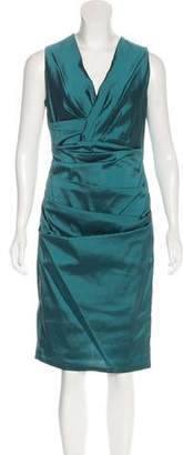 Talbot Runhof Silk-Blend Midi Dress