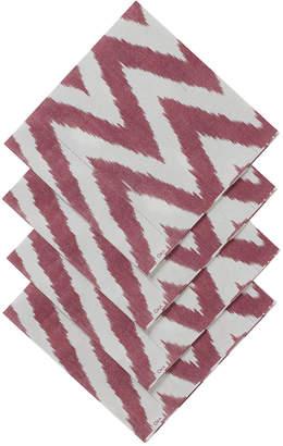 OKA Pruga Paper Napkins, Set of 20 - Red