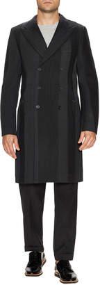 Dolce & Gabbana Wool Striped Top Coat