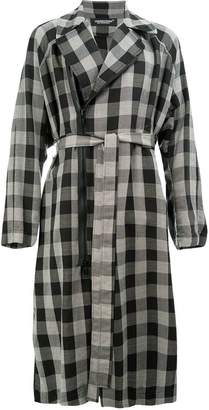 Undercover belted check coat