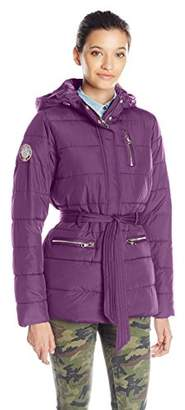 U.S. Polo Assn. Women's Long Puffer Jacket With Belt