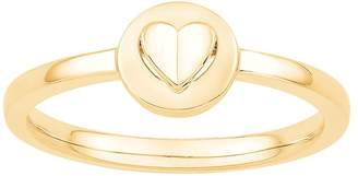 Signature Heart Collection Signature Heart 9ct Yellow Gold Raised Heart Ring
