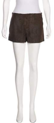 Rag & Bone High-Rise Leather Shorts