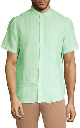 Black Brown 1826 Classic-Fit Linen Button-Down Shirt
