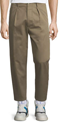 Valentino Pleated-Front Gabardine Chino Trousers
