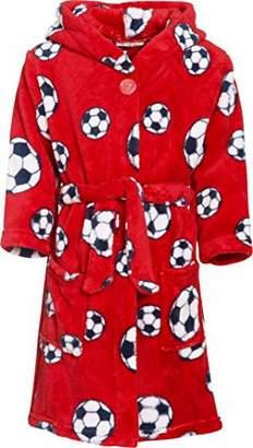 Playshoes Boy's Fleece-bademantel Fußball Bathrobe,(Size:74/80)
