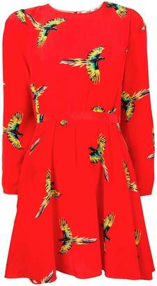 Diane von Furstenberg bird print mini dress