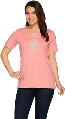 Factory Quacker Spring Sparkle Embroidered Short Sleeve T-shirt