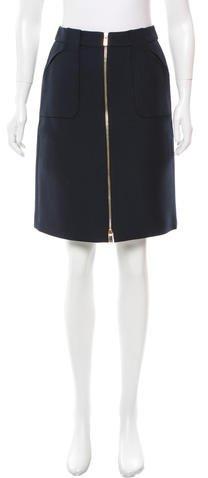 Michael Kors Navy Knee-Length Skirt