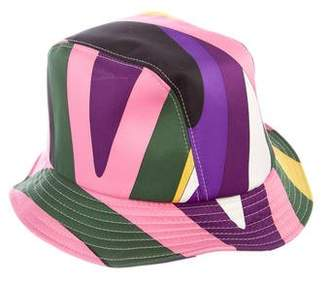 Emilio Pucci Satin Printed Bucket Hat