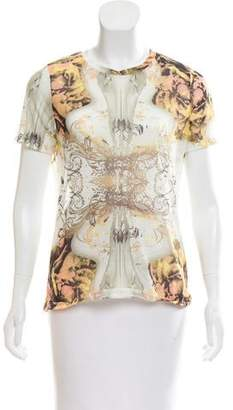 Prabal Gurung Short Sleeve Printed Top w/ Tags