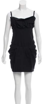 Fendi Fray Trim Mini Dress w/ Tags Black Fray Trim Mini Dress w/ Tags