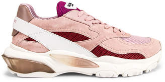 Valentino Bounce Sneakers in White & Rose | FWRD
