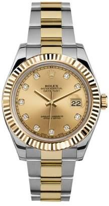 Rolex Datejust II 116333 Champagne Diamond Dial 41mm Mens Watch