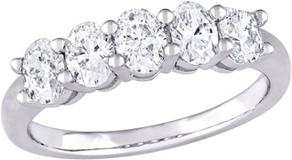 Affinity Diamond Jewelry Affinity 14K 1.00 cttw Oval-cut Diamond 5-StoneBand Ring