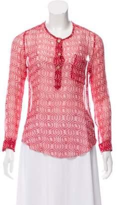 Etoile Isabel Marant Silk Patterned Blouse