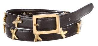 Paloma Picasso Embellished Leather Belt