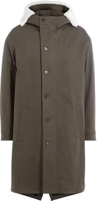 Neil Barrett Cotton Parka with Textured Hood