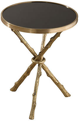 At One Kings Lane · Global Views Egeon Faux Bois Side Table   Brass/Black