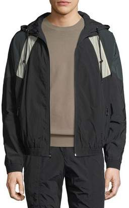 Vince Hooded Soft-Shell Jacket