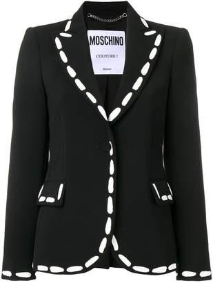 Moschino painted stitch blazer